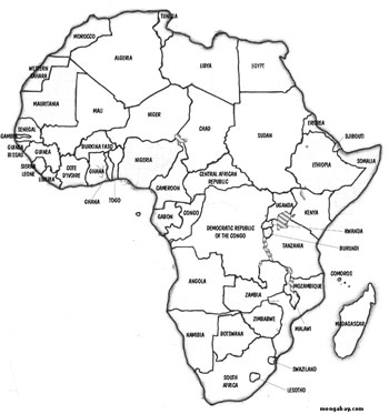 Map of Africa - Rhett Butler 2000