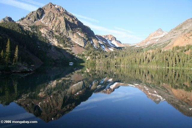 Mountains reflected in Green lake