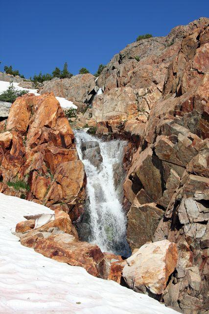 Another waterfall on hike from West Lake to Bergona Lake
