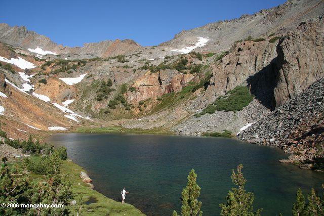 Bergona Lake, elevation 10,205 feet