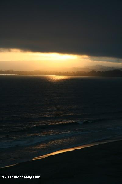 Sunset over Santa Cruz, California