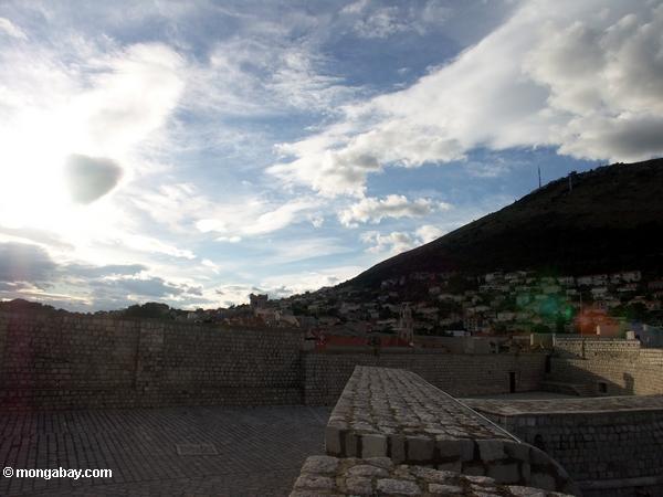 ドブロヴニク城壁からの景色