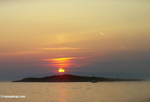 Mljet Inselsonnenuntergang von Pomena