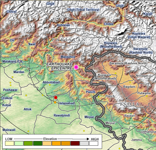 Map of earthquake affected region in kashmir city news publicscrutiny Image collections