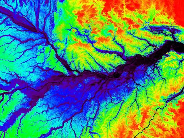Amazon Rainforest Photos A Topographic Map Of A Section Of The