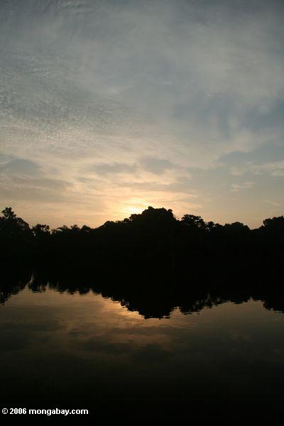 Sunrise on Evengue lagoon
