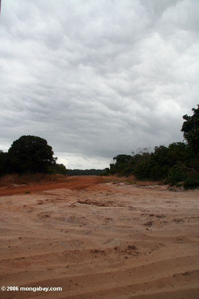 Sand roads outside Loango NP