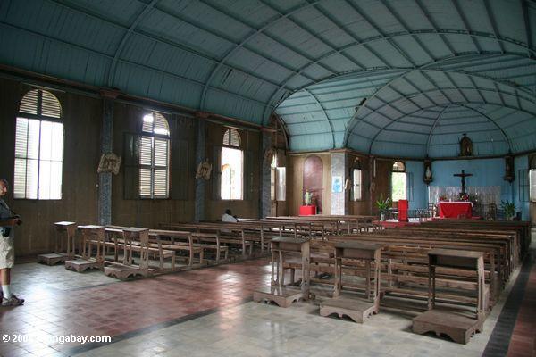 Innere Str. Anne der Kirche, eine Eisenkirche in landwirtschaftlicher Afrika