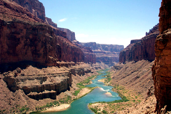 Colorado River running through the Grand Canyon. The river has been severely overexploited for agriculture and cities. Photo by: Rhett A. Butler.