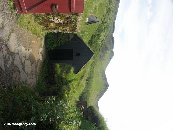 Turf houses at Skogar, Iceland