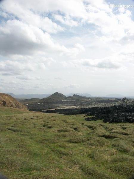 Landschaft nahe See Myvatn