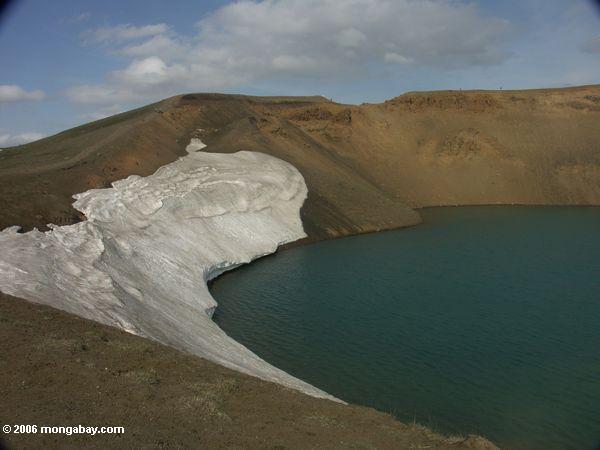 ледником озера возле озера myvatn