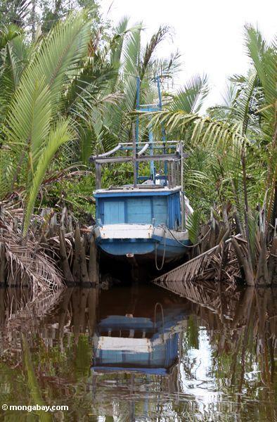 Лодка стыковка между НСДП ладонями по реке seikonyer