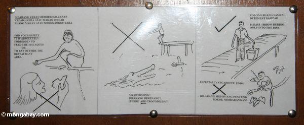 нет плавание из-за крокодилов знак
