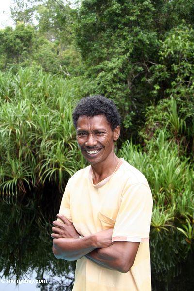 Thomas Sari Wuwur, Ecotourist Führer in Kalimantan