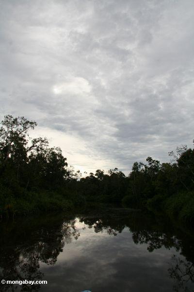 Sonnenuntergang auf dem Sekonyer Fluß