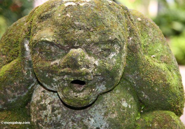мшистый статуя