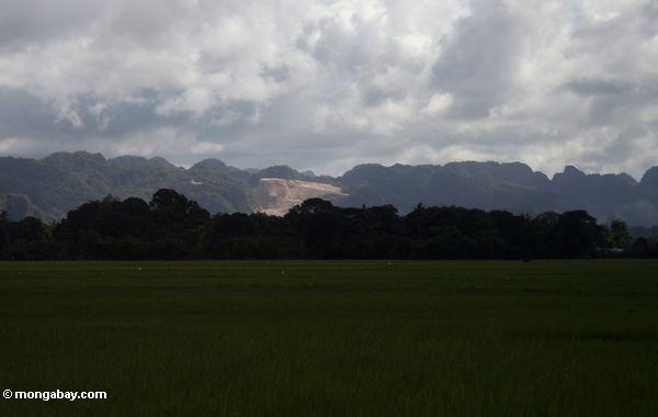 Große Marmorgrube in Sulawesi