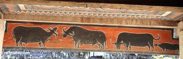 Büffelwandbild Palawa Toraja