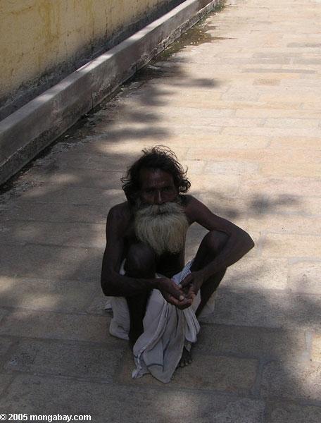 Pedinte no distrito de Tiruchirapalli
