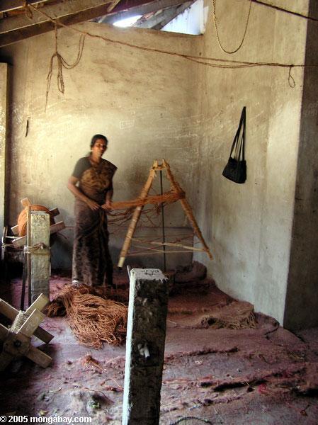 Coirfabrik nahe Kerala