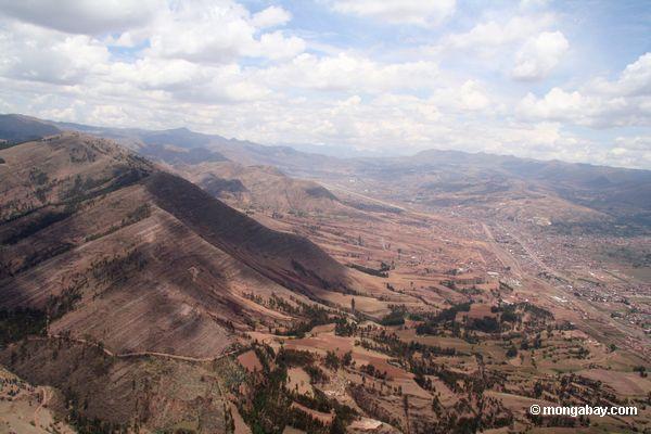 Retrato aéreo de Cuzco