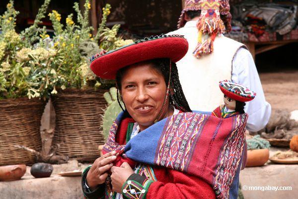 Quencha Frau im Chinchero Markt