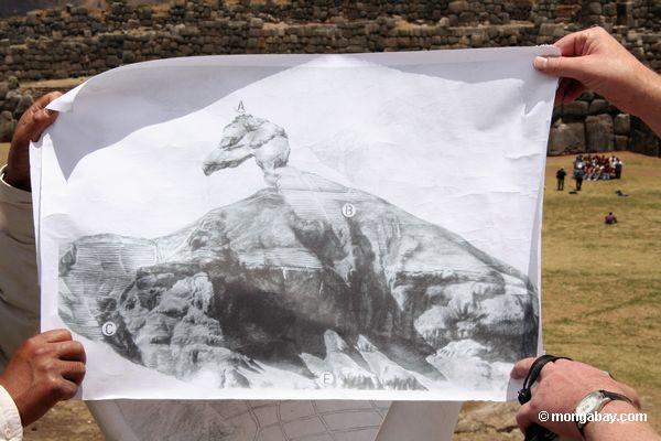 Mostrar extraindo condor-como a forma de Ollantaytambo