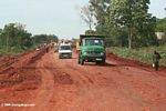 Road construction in Uganda