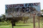 Corruption Is deadly, Stop it sign