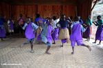 Bwindi orphans group children singing and dancing