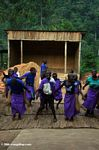 Bwindi orphans group children doing traditional dances and songs