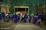 Children learning traditional tribal song and dance