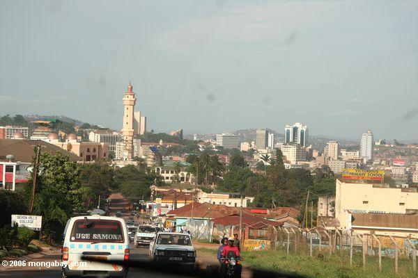 Im Stadtzentrum gelegenes Kampala