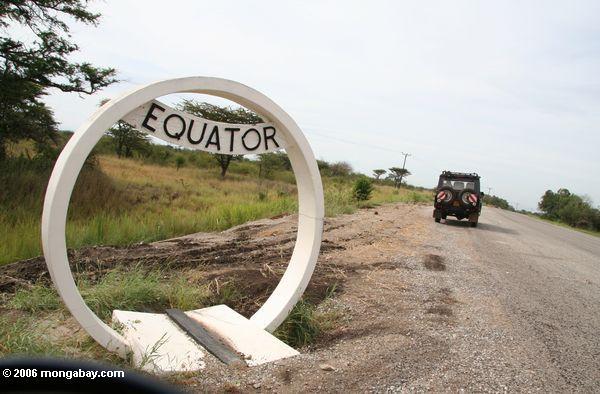 Äquator in Uganda, Geländewagen