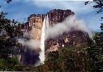 Angel falls, the world's tallest waterfall, located in Venezuela