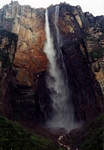 Angel falls as seen from its base