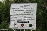 Camp Leaky Orangutan Foundation International (OFI) sign (Kalimantan, Borneo (Indonesian Borneo))