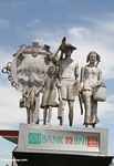 Statue encouraging Indonesians to have only two children (Sulawesi (Celebes))