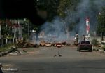 Roadblock in Sulawesi following a raid on a suspected bomber (Sulawesi (Celebes))