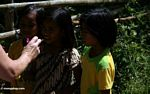Little girls playing with bubbles in Pana village (Toraja Land (Torajaland), Sulawesi)