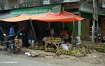 Durian fruit for sale in Sengkang (Sulawesi (Celebes))