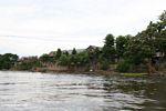 Riverside houses along river draining Lake Tempe (Sulawesi (Celebes))