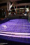 Purple silk in loom (Sulawesi (Celebes))