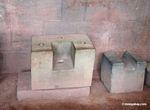 Inka stone architecture disassembled to show interlocking parts