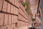 Adobe brick making in Urubamba river valley