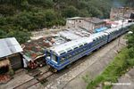 Machu Picchu � Ollantaytambo train as it waits in Machu Picchu Pueblo