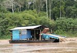 Gold miners along the Rio Tambopata