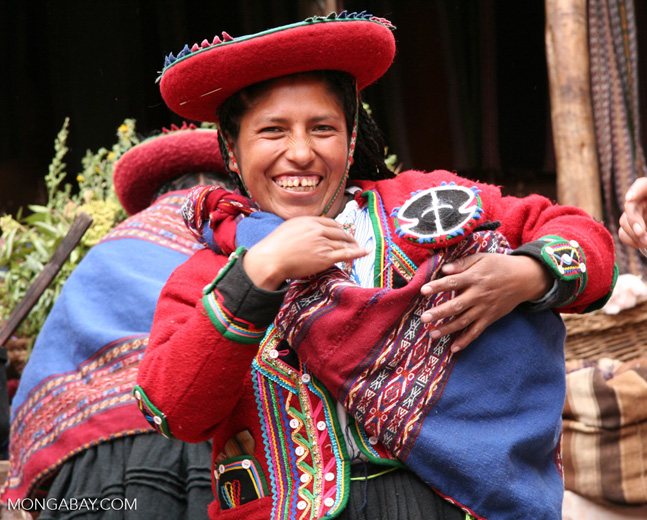 Andean woman in traditional Quencha attire, Peru. Photo by Rhett Butler.